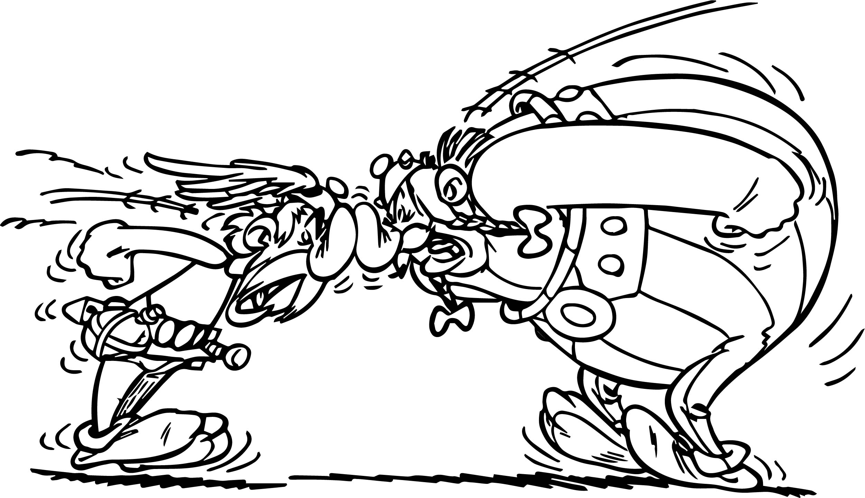 Asterix Obelix Streit Coloring Page