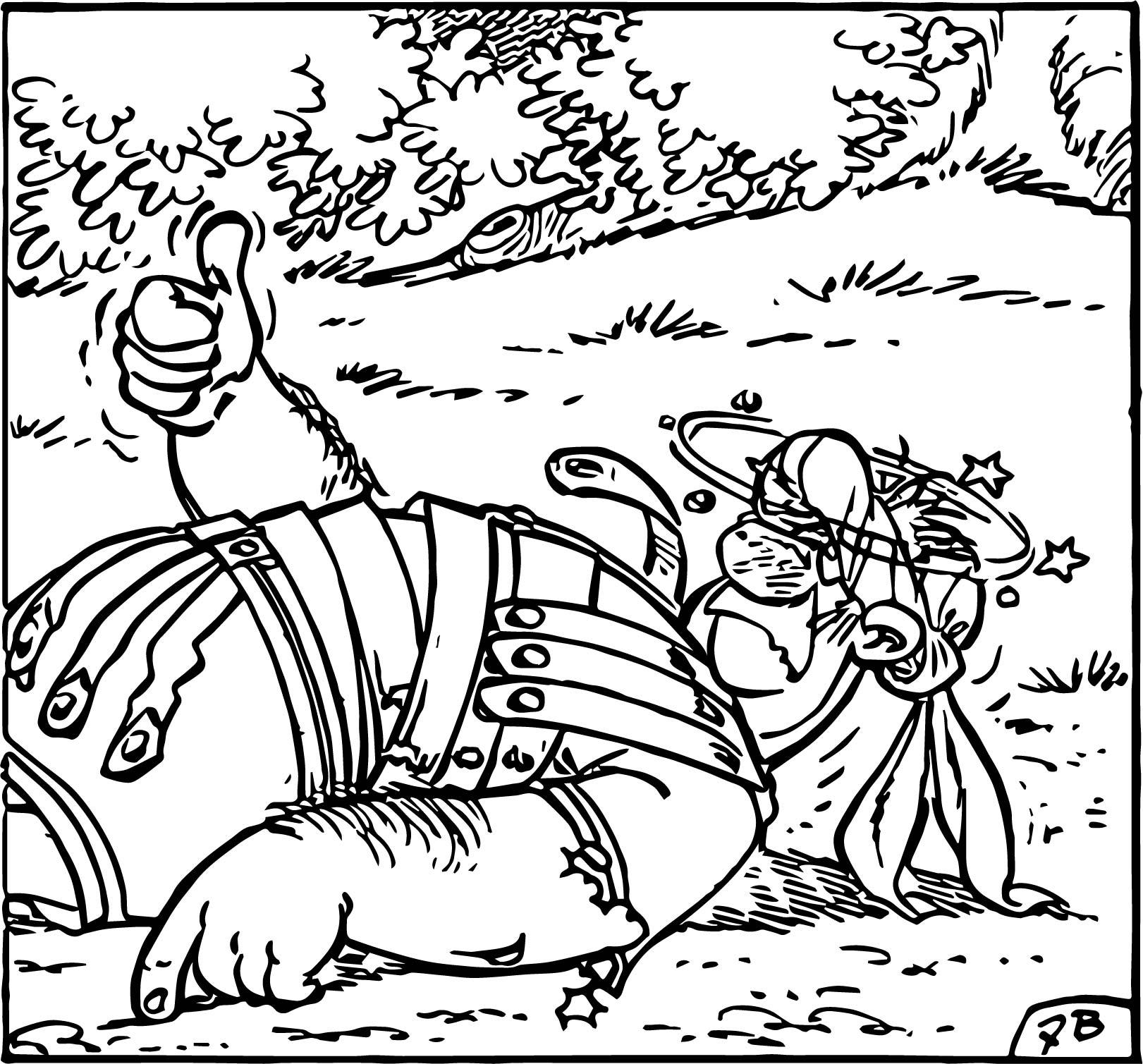 Asterix Pulgar Coloring Page