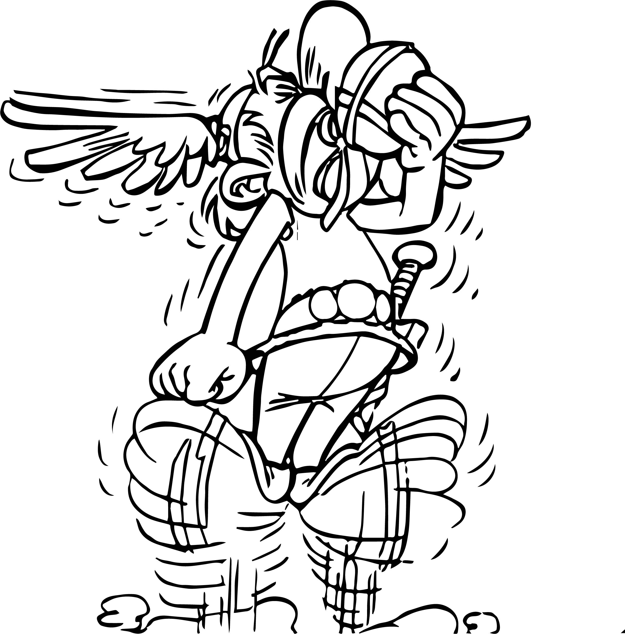 Asterix Total Retaliation Coloring Page