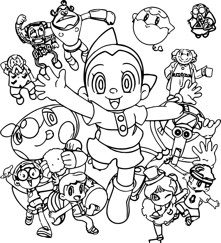 Astro Boy Boys Coloring Page Wecoloringpage Com