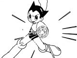 Astro Boy Fire Coloring Page