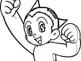 Astro Boy Full Power Coloring Page
