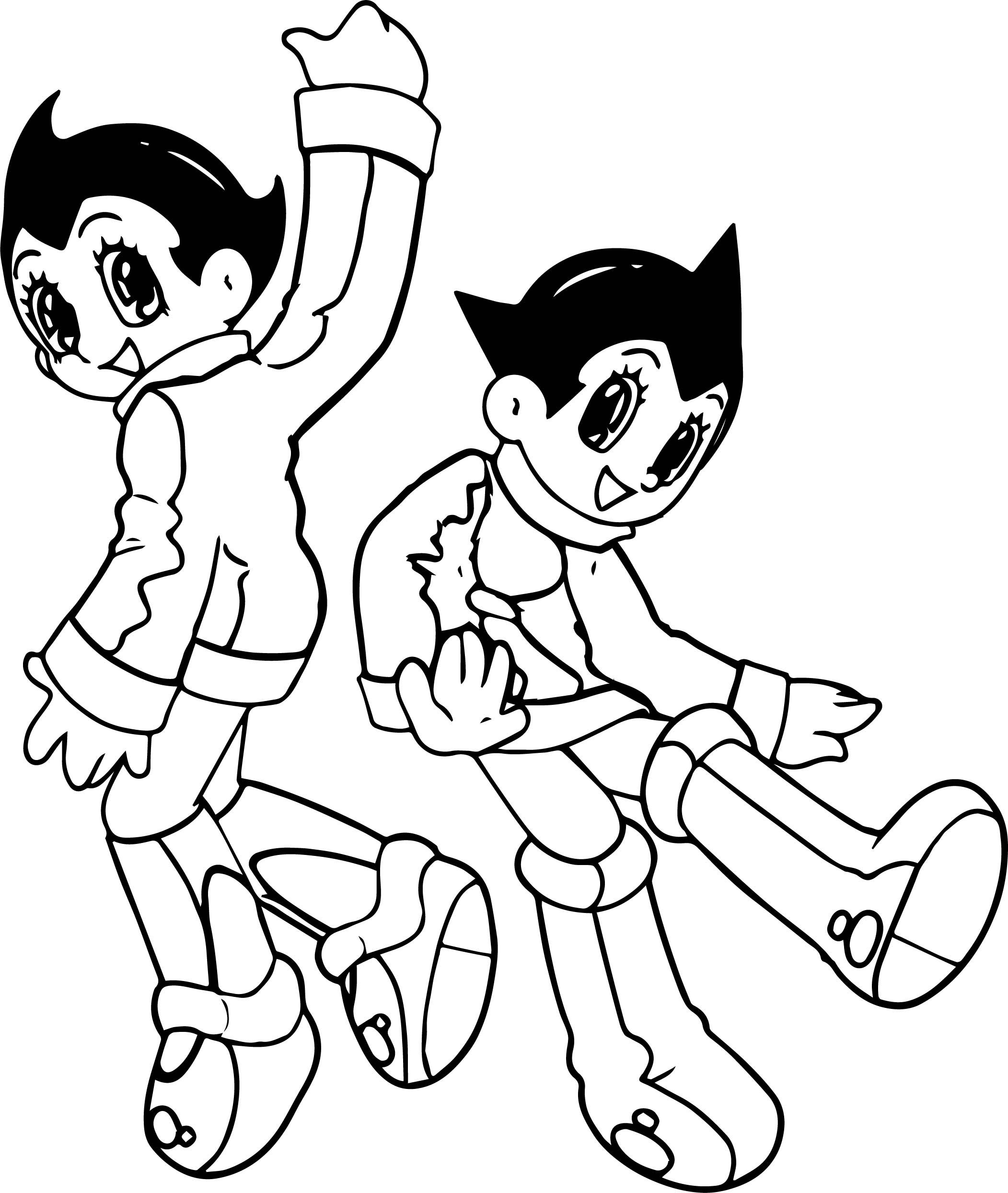 Astro Boy Good Coloring Page