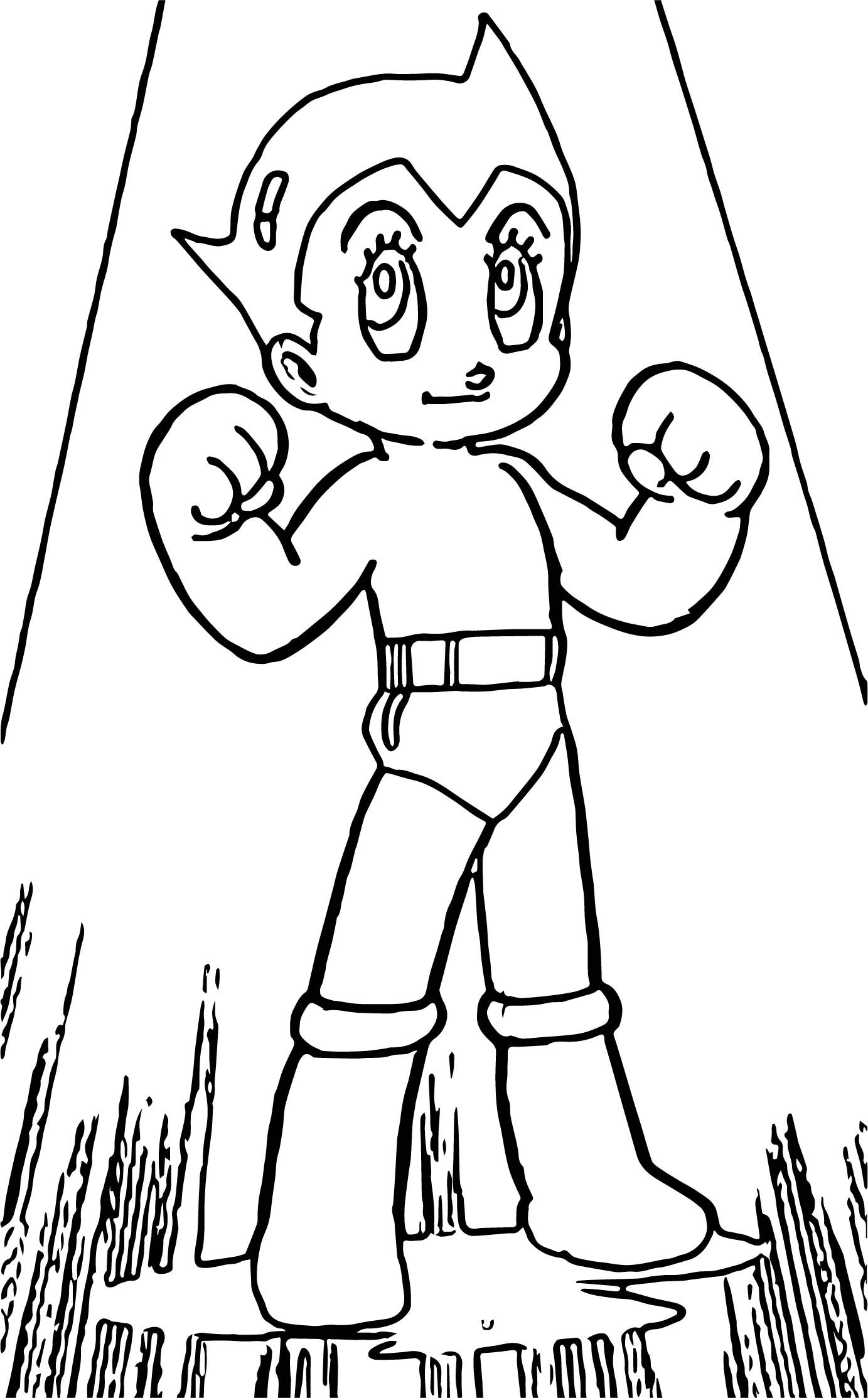 Astro Boy Light Coloring Page