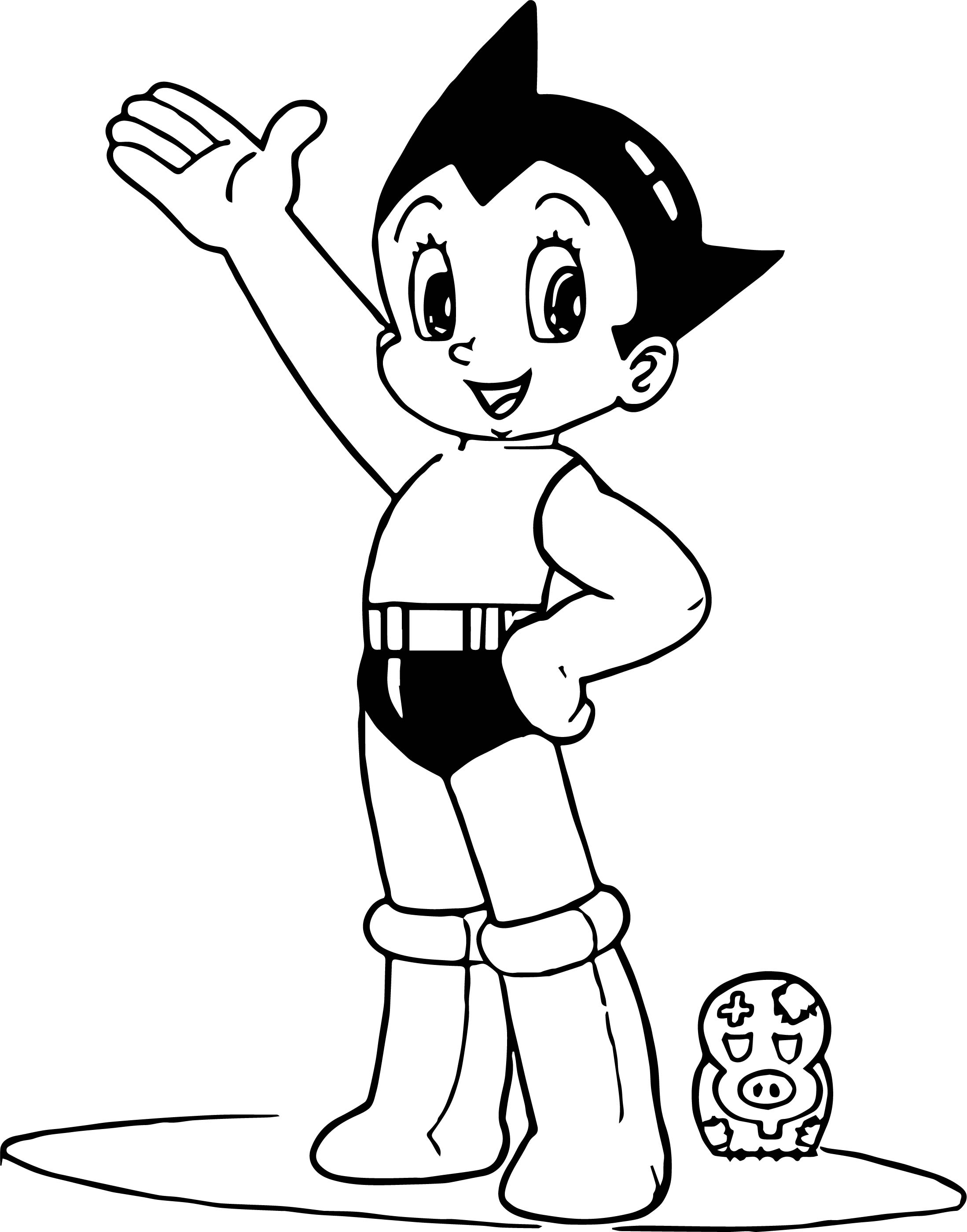 Astro Boy Pig Toy Coloring Page