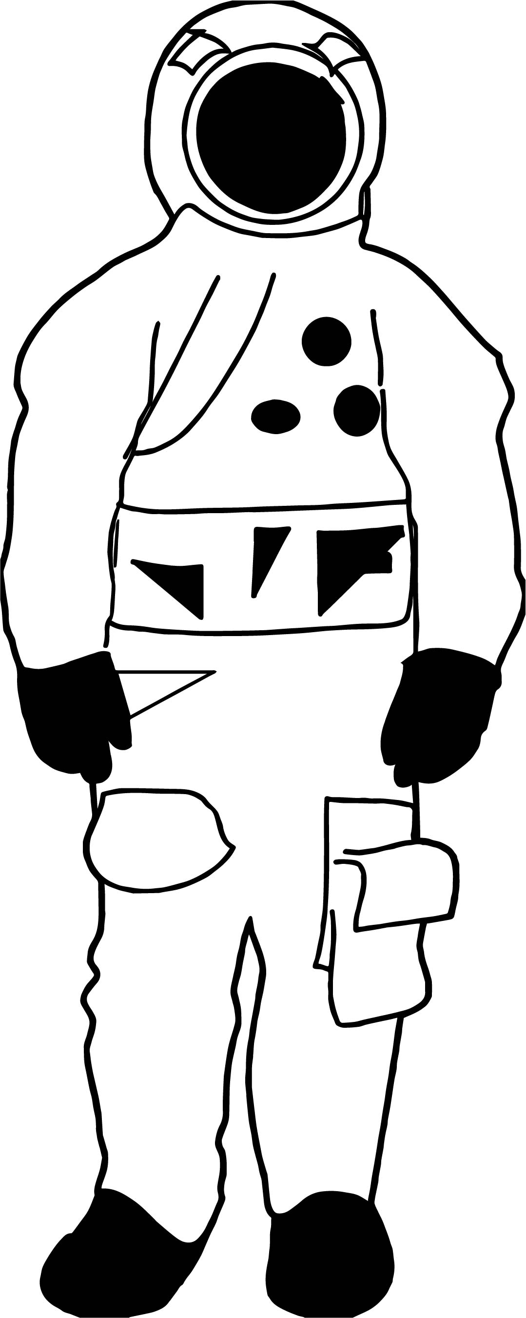 Astronaut Black Man Coloring Page