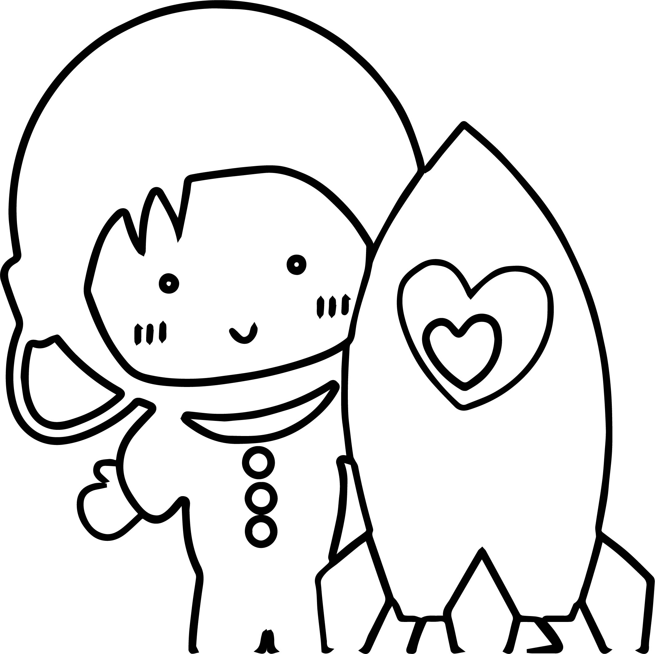 Astronaut Cute Boy Coloring Page