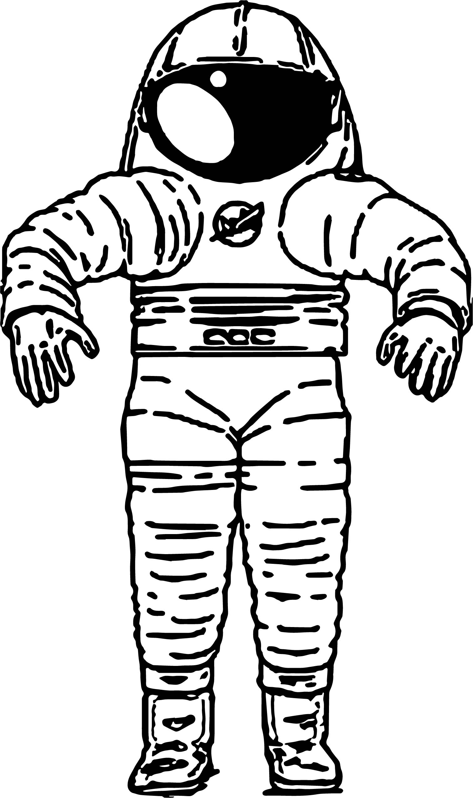Astronaut Fat Coloring Page