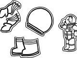 Astronaut Helmet Shoe Coloring Page