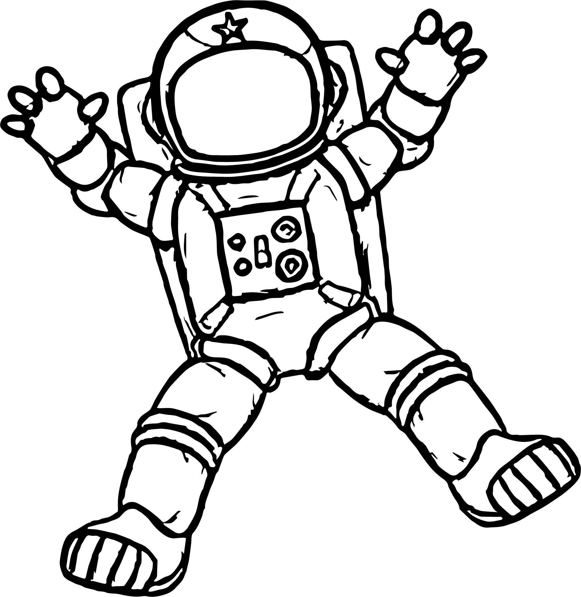 Astronaut Holding Glass Coloring Page