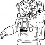 Astronaut Man Hello Coloring Page