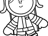 Astronaut New Girl Coloring Page