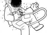 Astronaut Setting Coloring Page