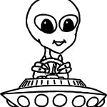 Astronaut Space Creature Driving Vehicle Coloring Page