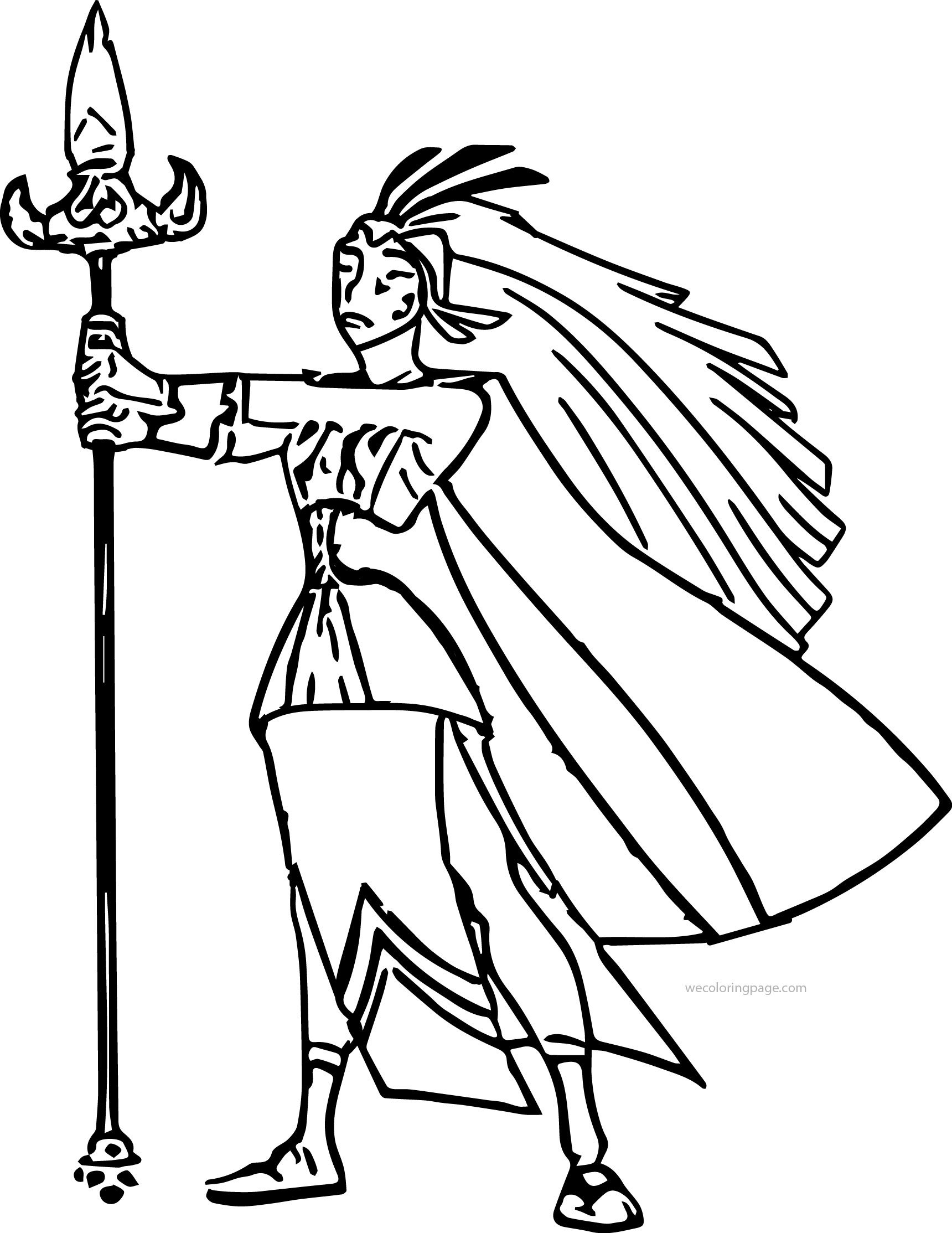 Atlantis The Lost Empire Kida Queen Coloring Page