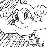 Atom Astro Boy Coloring Page