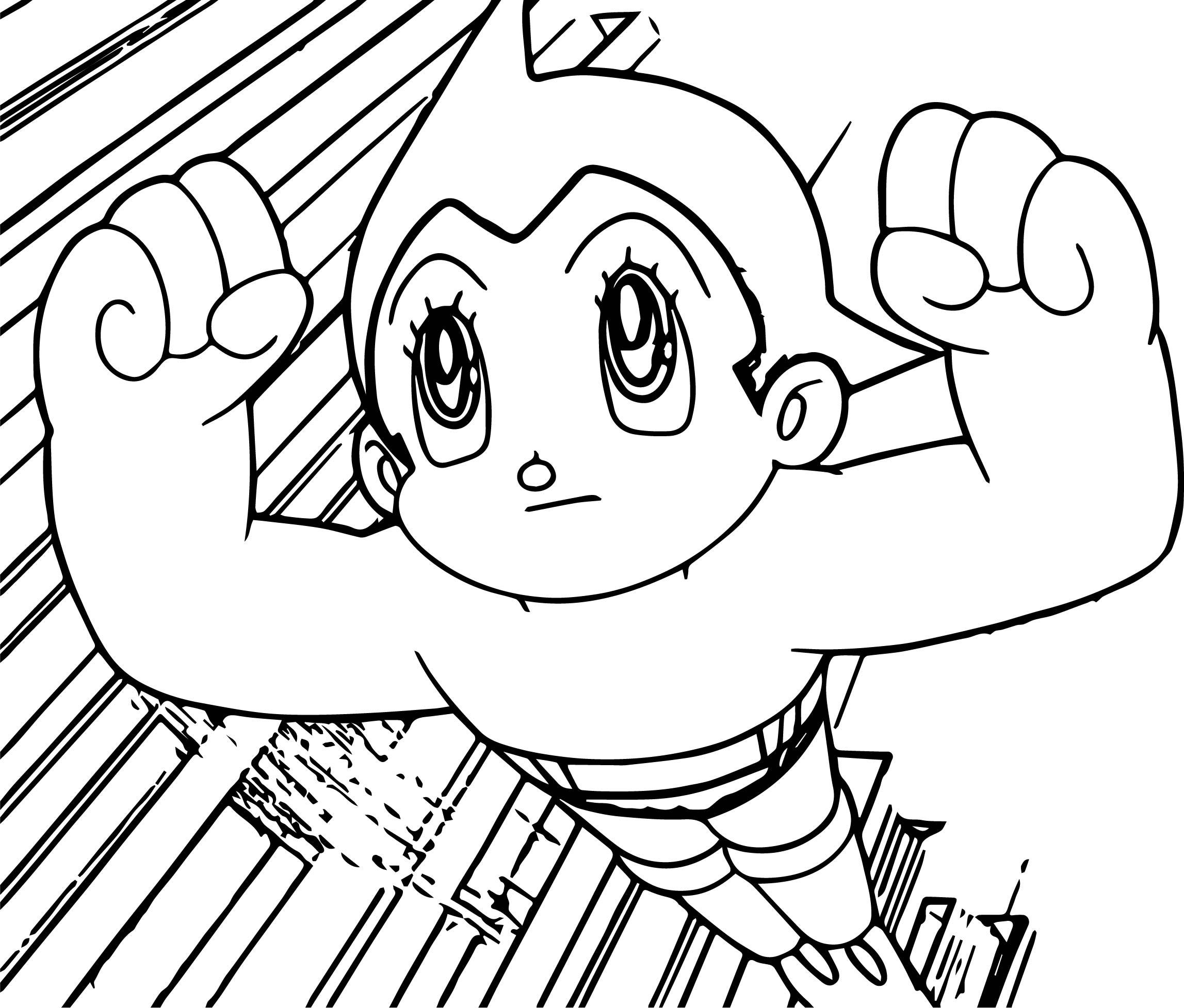 Atom Astro Boy Coloring Page Wecoloringpage Com