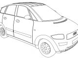 Audi A2 Car Coloring Page