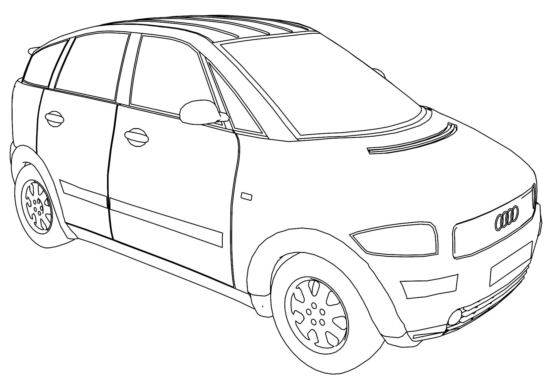 Audi A2 Car Coloring Page | Wecoloringpage.com