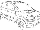 Audi A2b Jeep Car Coloring Page