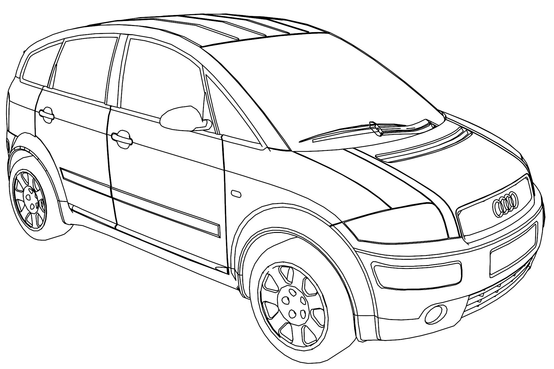audi a2b jeep car coloring page - Coloring Page Jeep