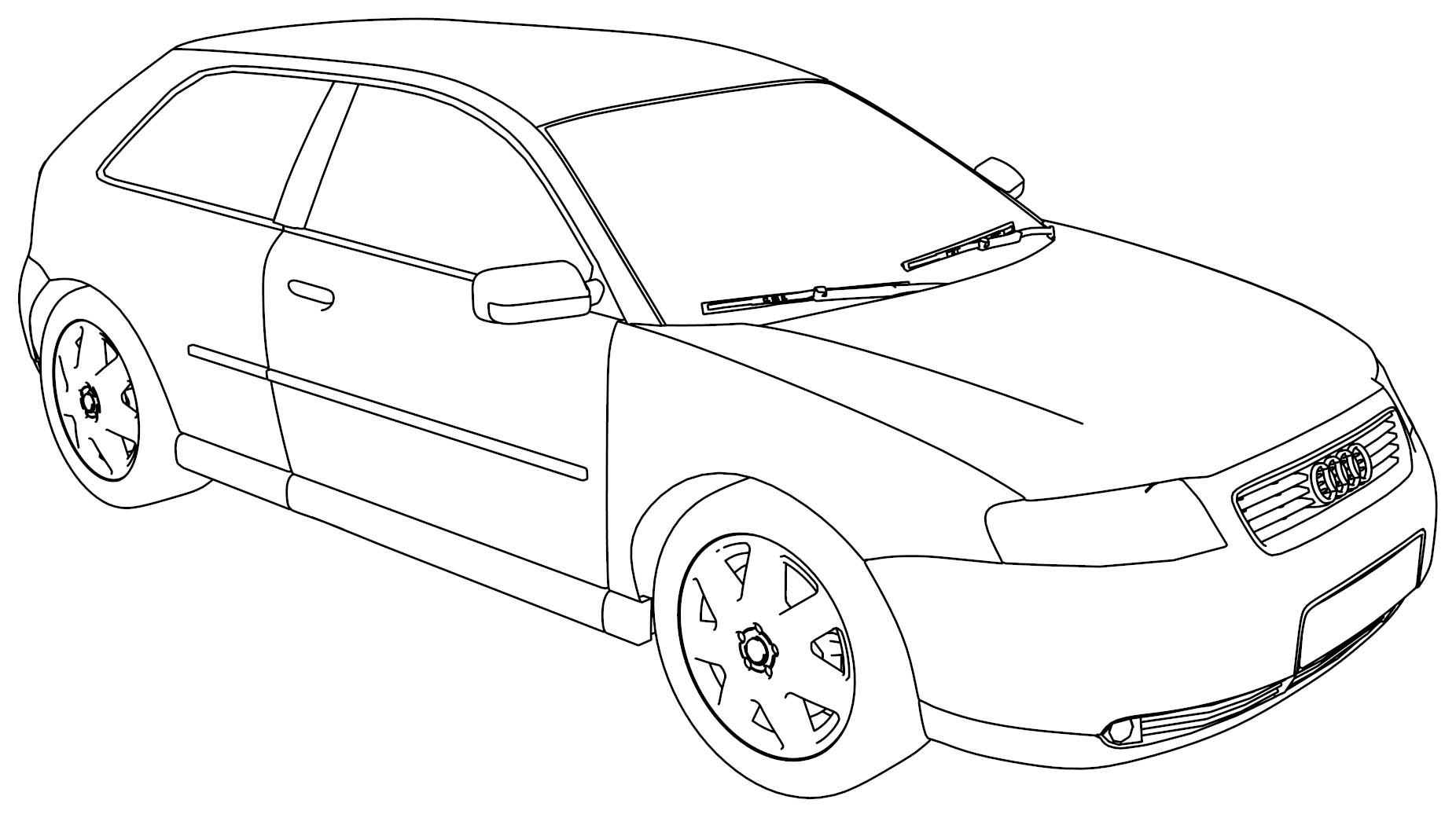 Audi a3 coloring page for Audi r8 coloring pages