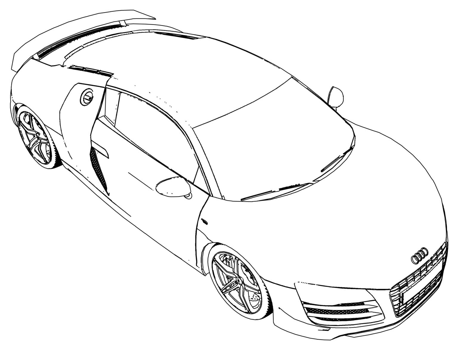 Audi r8 coloring page for Audi r8 coloring pages