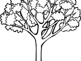 Autumn One Tree Coloring Page