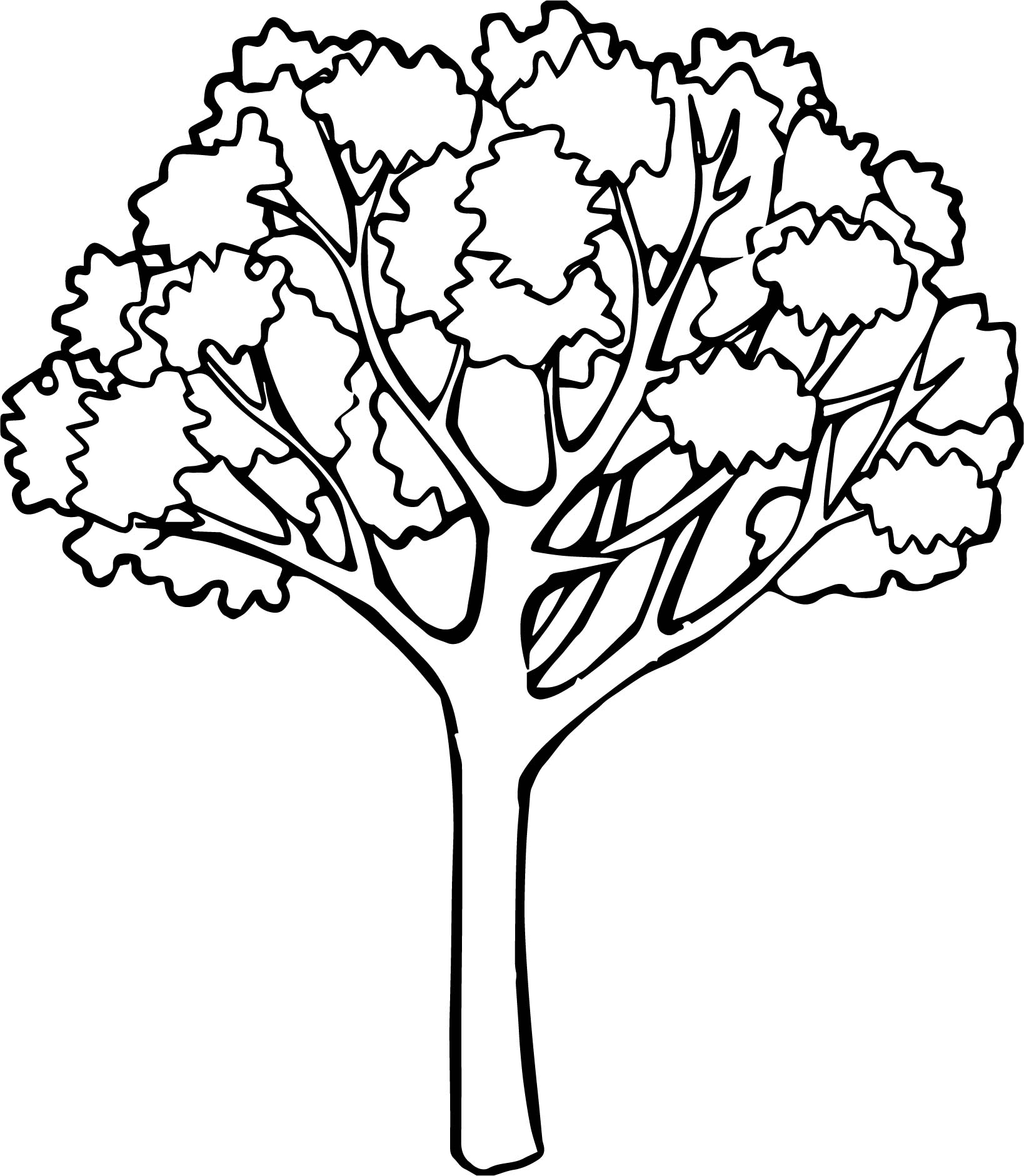 Autumn One Tree Coloring PageAutumn One Tree Coloring Page