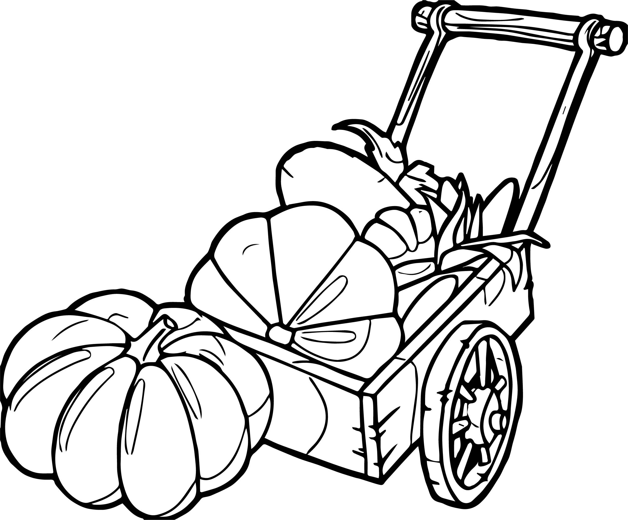 Autumn Pumpkins Coloring Page