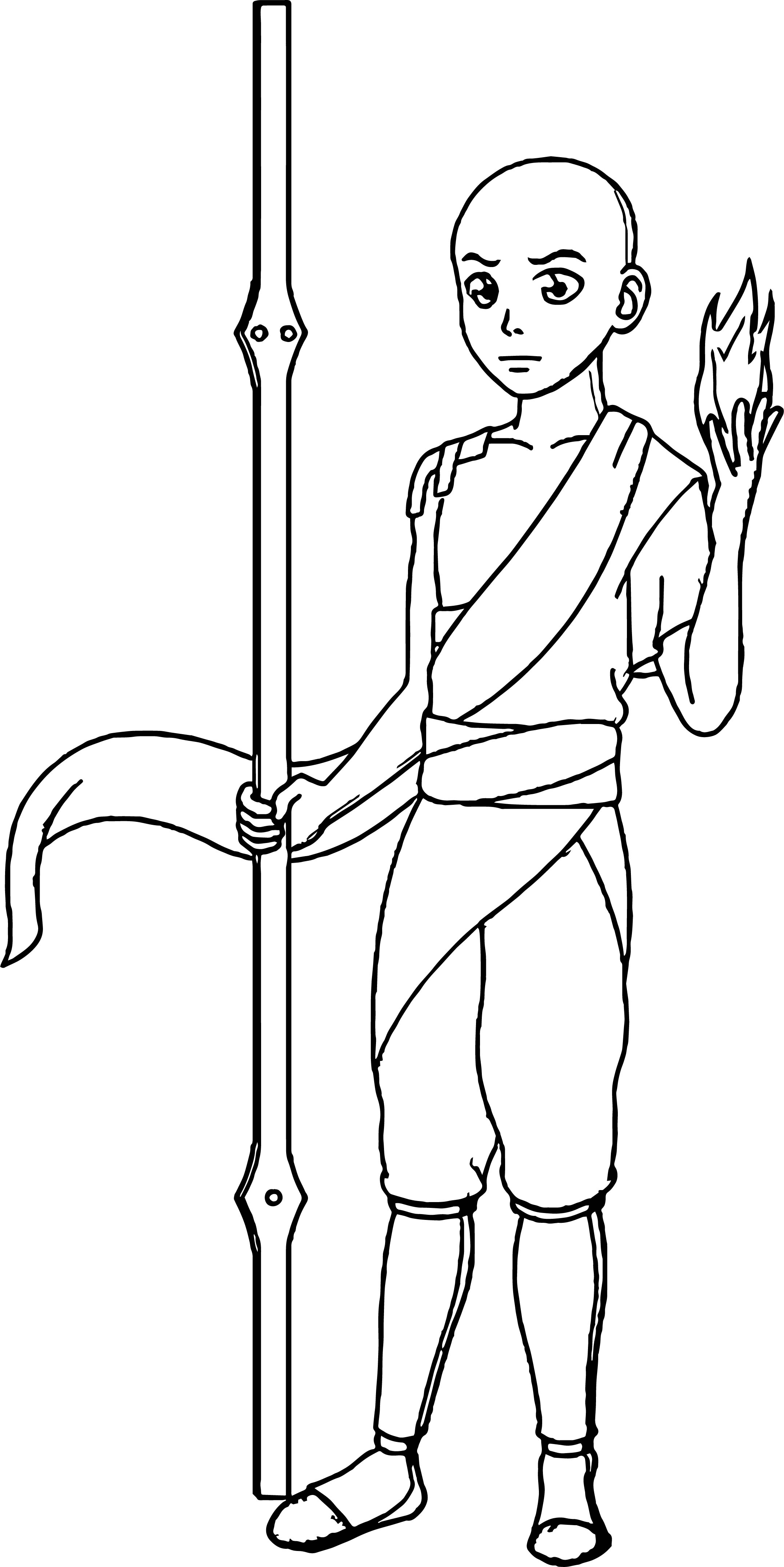 Avatar Aang Book Bonjourmonami Avatar Aang Coloring Page