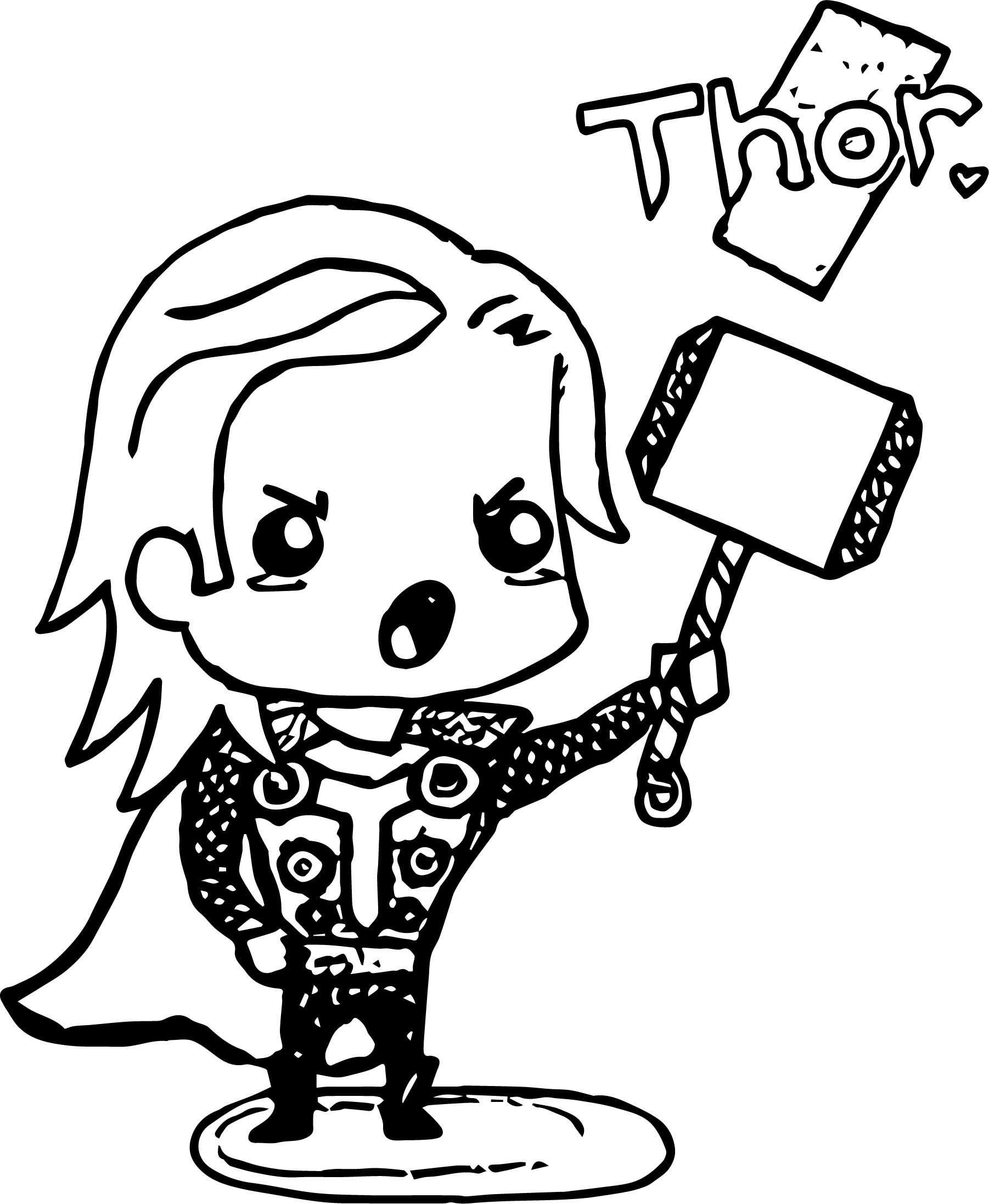 Avenger Babies Thor Coloring Page Coloring Page Wecoloringpage