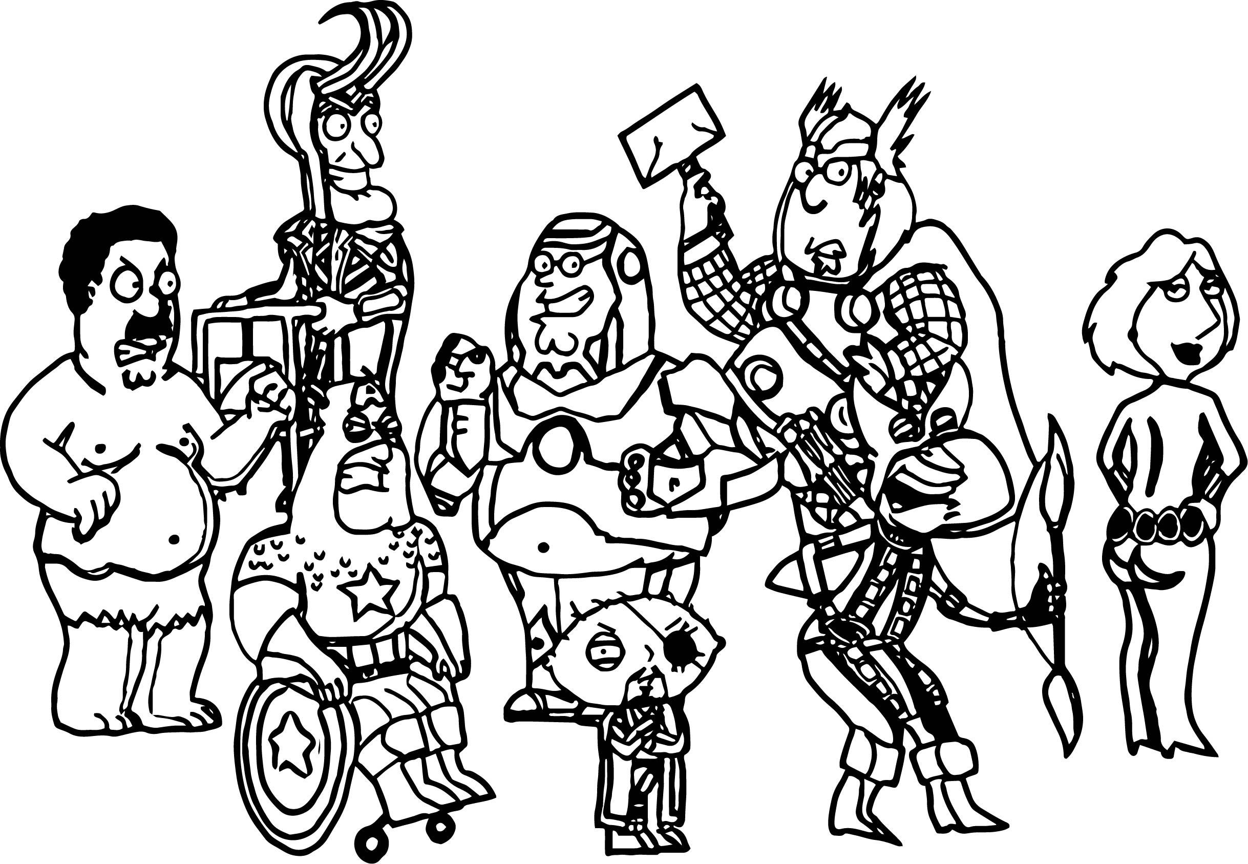 Avengers Comics Coloring Page