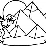 Aztec Ancient Egypt Pyramids Coloring Page