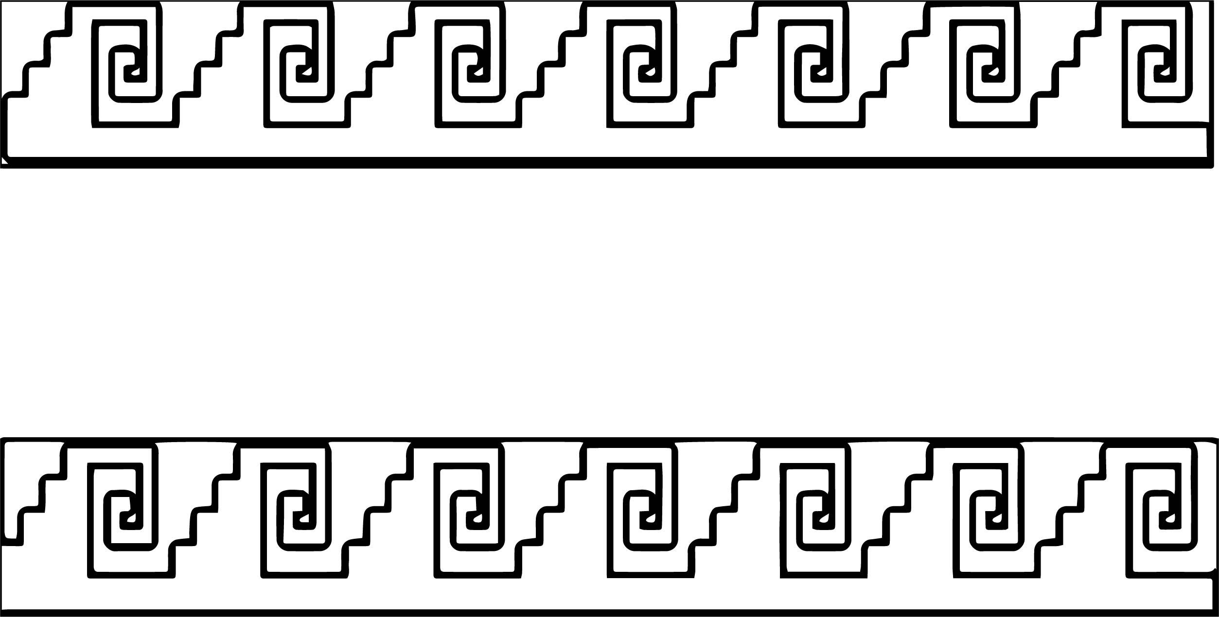 Aztec Design Coloring Page