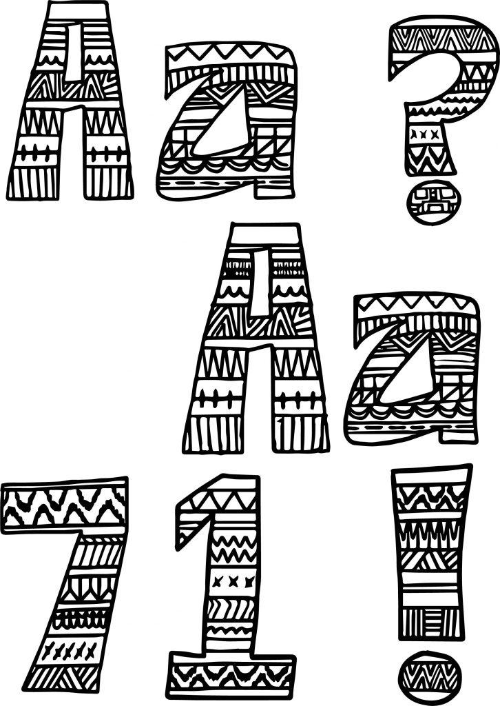 aztec coloring pages letter a - photo#1