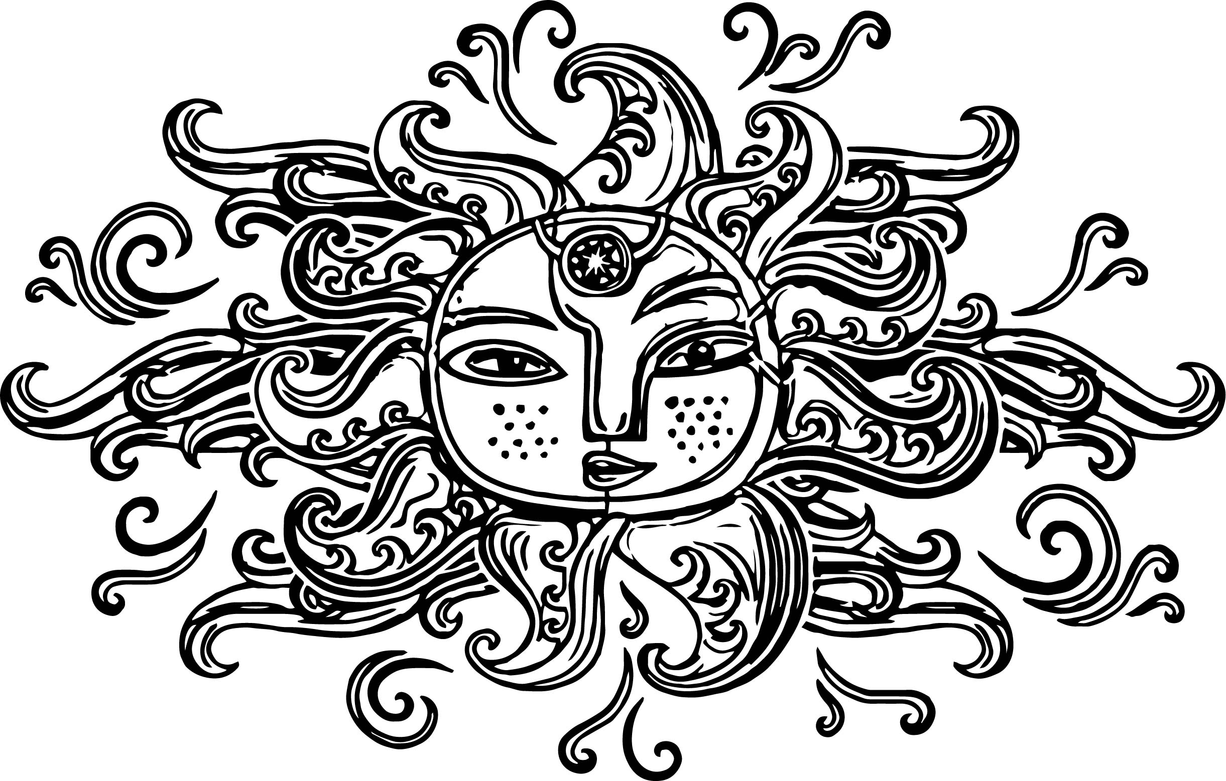 aztec sun coloring page coloring pages