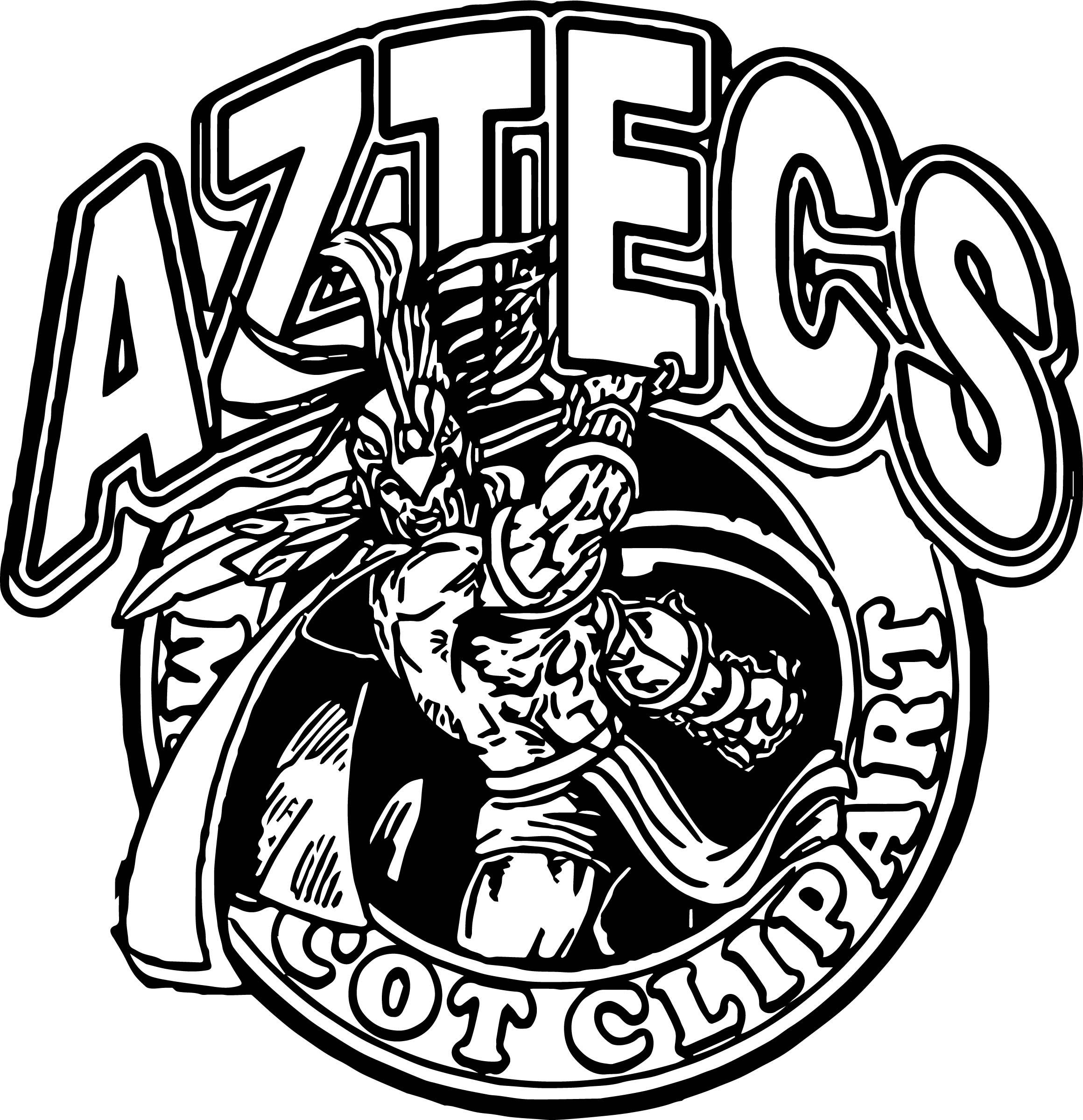 Aztecs Coloring Page