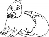 Baby Cartoon Dinosaur Coloring Page