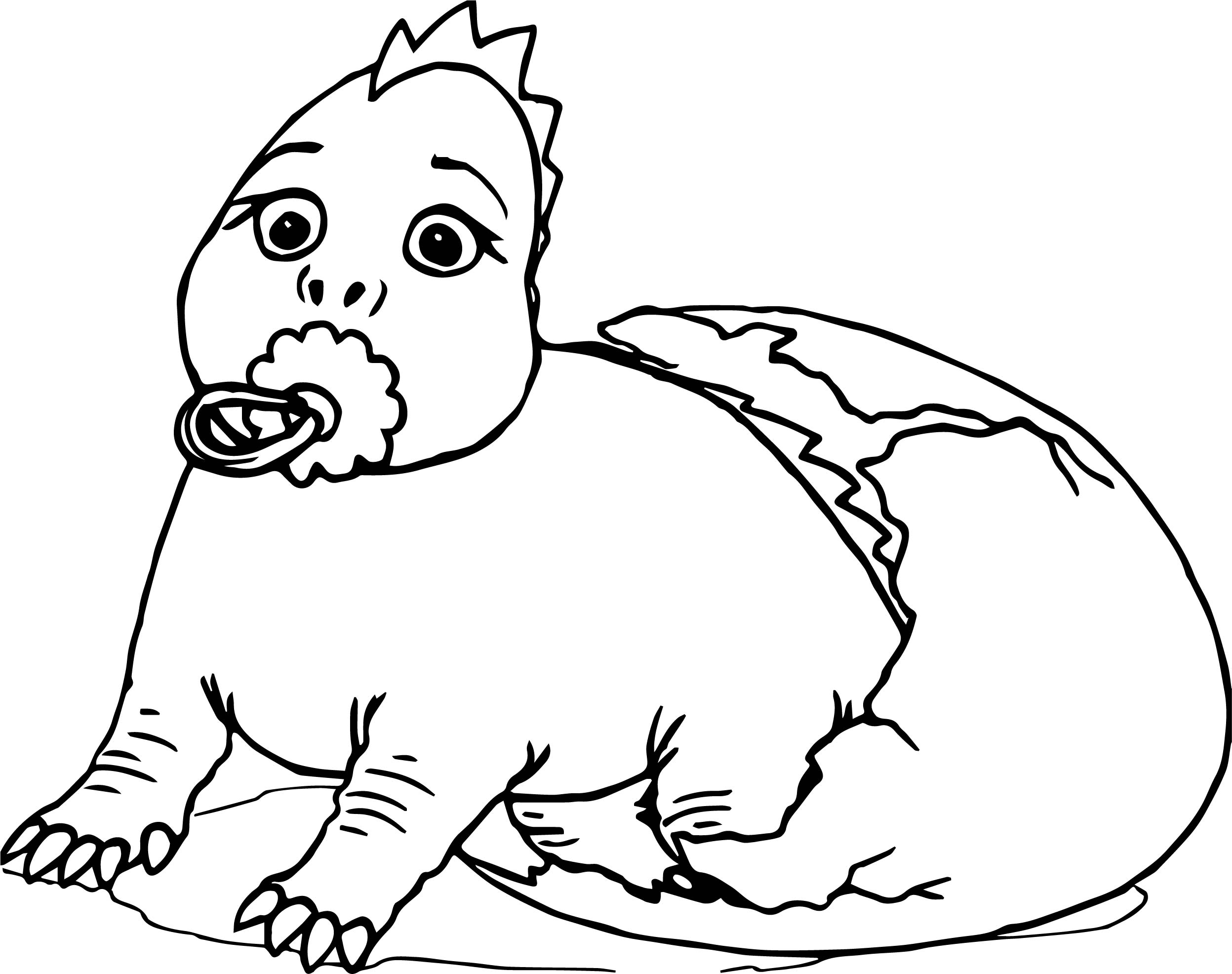 Baby cartoon dinosaur coloring page for Baby cartoon coloring pages