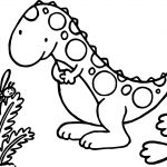 Baby Dinosaur And Bee Coloring Page