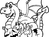 Baby Dragon Cartoon Coloring Page
