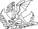 Baby Dragon Egg Coloring Page