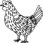 Baby Farm Animal Chicken Coloring Pages