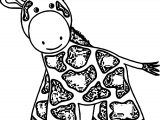 Baby Farm Animal Cute Little Baby Giraffe Toy Coloring Page
