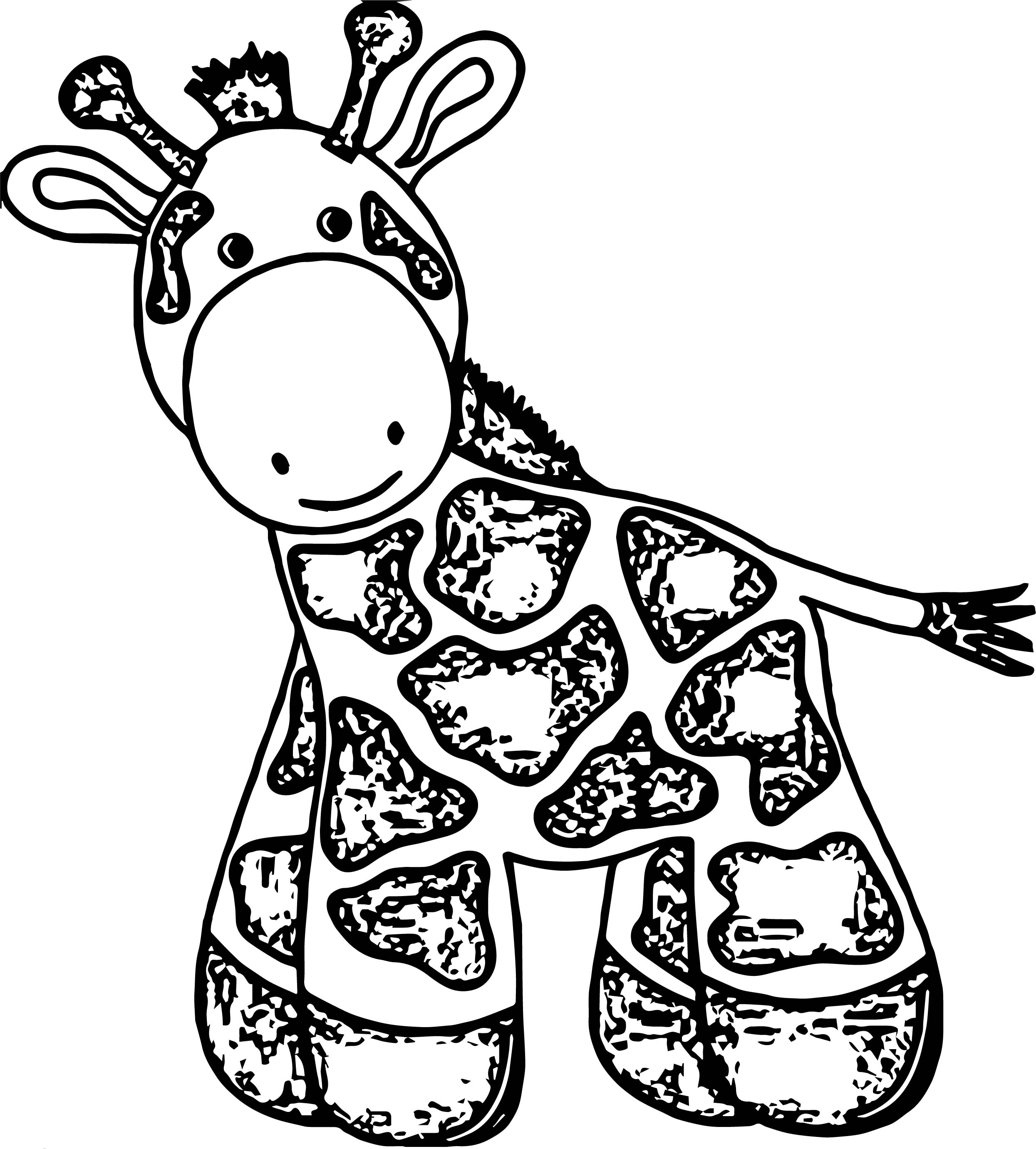 Baby farm animal cute little baby giraffe toy coloring for Baby toys coloring pages