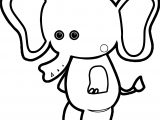 Baby Farm Animal Elephant Coloring Page