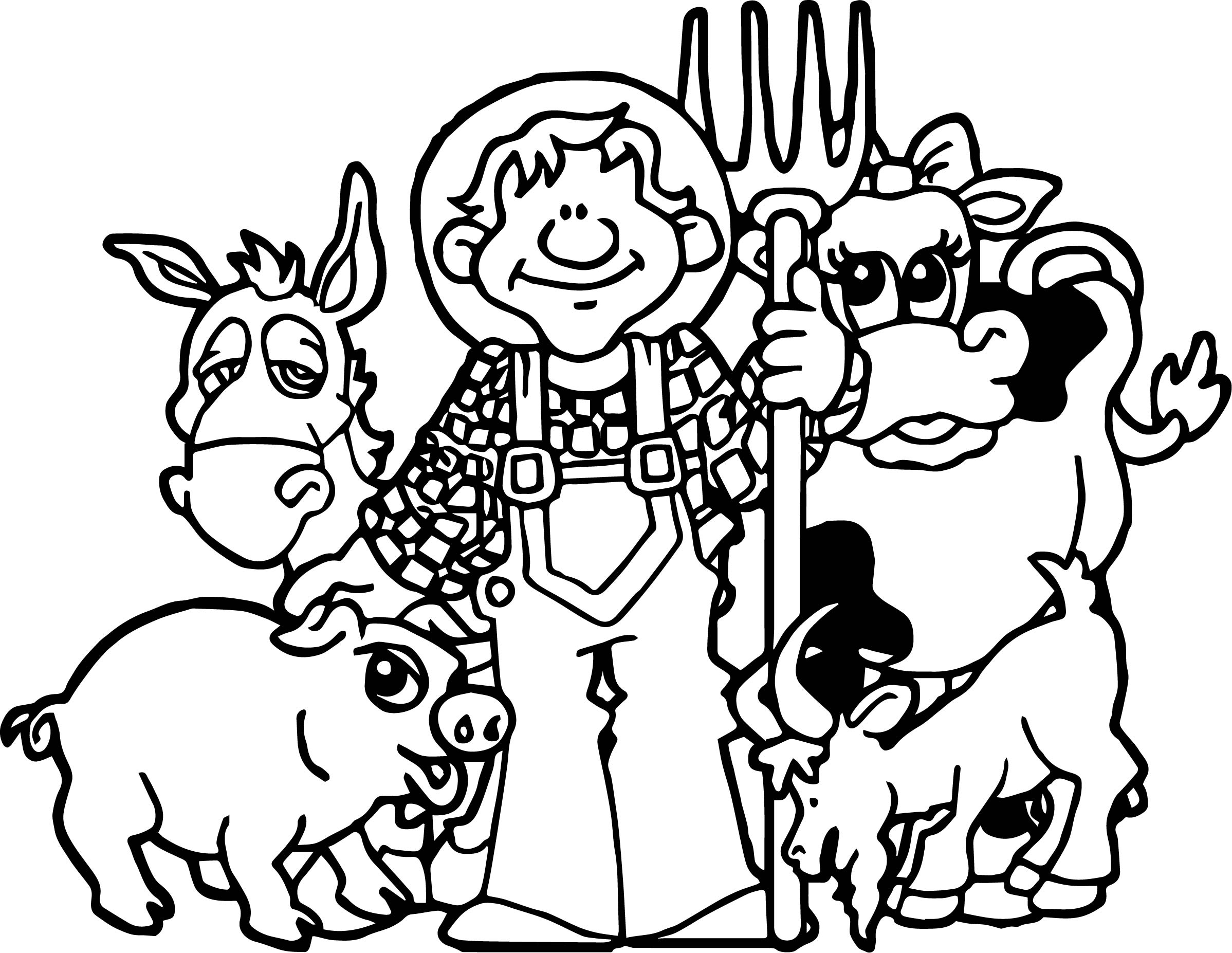 Baby farm animal family coloring page Coloring book pictures of farm animals