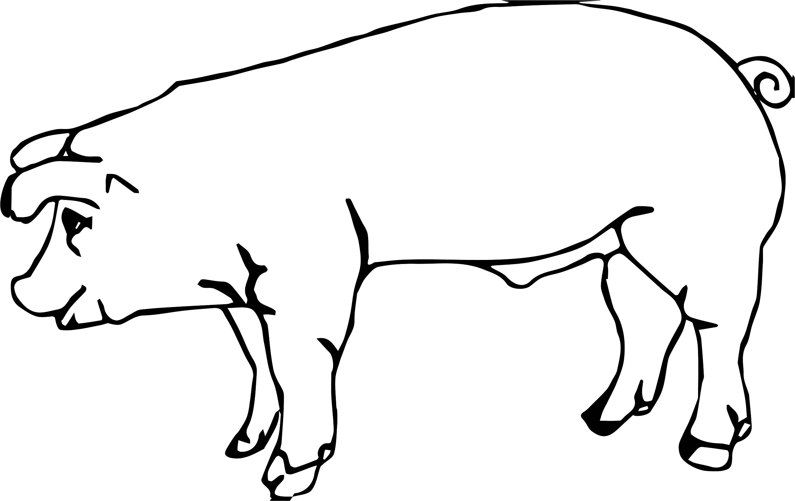 Baby farm animal pig coloring page for Baby farm animals coloring pages