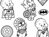 Baby Heroes Captain Coloring Page